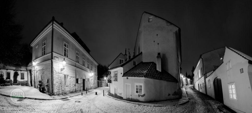 Fotoprocházka Praha, Hradčany, Nový svět, panorama